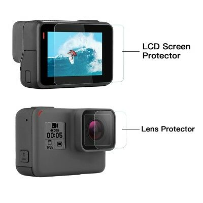 GoPro Hero 5 6 7 Black  LCD Screen and Lens Tempered Glass Protector