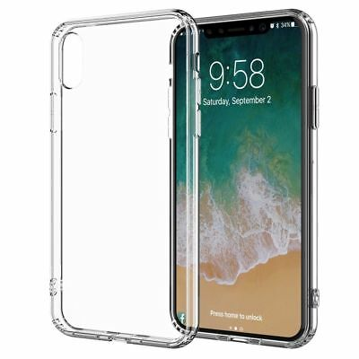 iPhone XR Case Shock Proof Crystal Clear Soft Slim Silicone Gel Bumper Cover