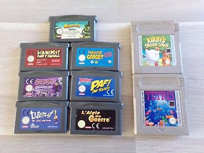 cartouche jeu game boy fat et game boy advance testé