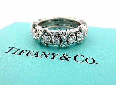 Tiffany & Co Platin Jean Schlumberger 16 Stein Diamant Ring Size 7.5 1.14ct Ct