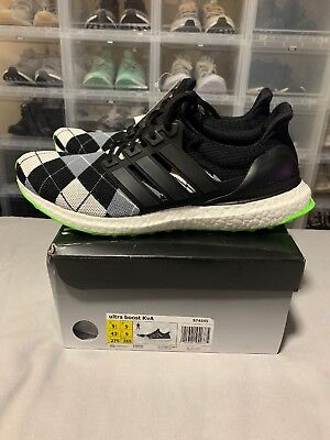 089ca910385 ADIDAS ULTRA BOOST 1.0 KVA Kris Van Assche - S74545 Black green NEW U.S 9.5