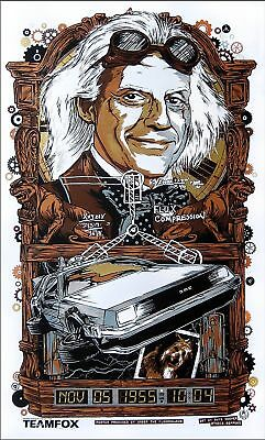 1990 Back To The Future 3 Alternate Movie Poster > Print > Marty McFly Delorean