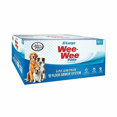 Wee-Wee Puppy Pee Pads for Larger or Multiple Dogs - Oversized Pads 40 Ct