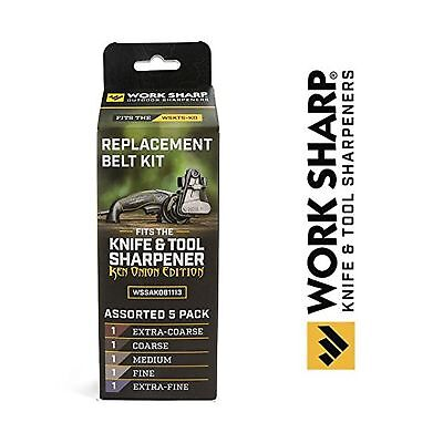 Official Replacement Belt Kit for the Work Sharp Knife and Tool Sharpener Ken...