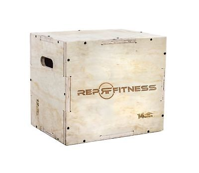 Rep 3 in 1 Wood Plyometric Box for Jump Training and Conditioning 	Size:16/14/12