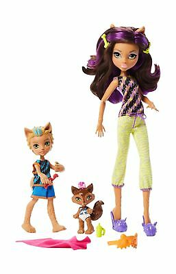 Monster High Monster Family Clawdeen Wolf, Barker Wolf, Weredith Wolf Dolls, ...