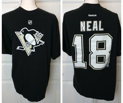JAMES NEAL PITTSBURGH PENGUINS Reebok Black Jersey Shirt Size Extra Large  XL NHL 07e2ac82c