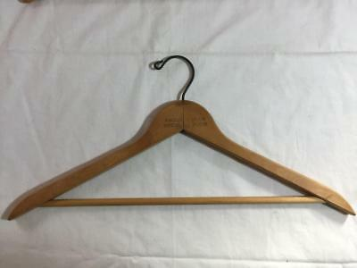 Vintage Wood Clothes Hanger RACQUET CLUB DRESSING ROOM