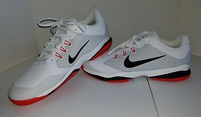 b2989f61d1ea Men Nike Air Zoom Ultra Athletic Tennis Shoes Sneaker White Black Red Size  12