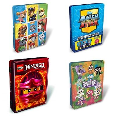Kids Activity Tins Fun Books of Puzzles Activities LEGO Paw Patrol Match Attax