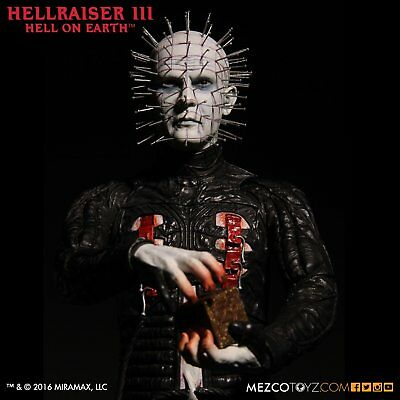 "Hellraiser Iii Hell On Earth ""Pinhead"" 12 Inch Vinyl Action Figure Mezco 2016"