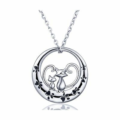 AEONSLOVE Necklaces, 925 Sterling Silver Lovely Dog Cat Owl Dolphin Pendant N...
