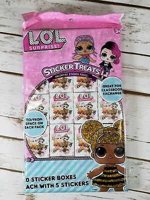 20 Sticker Boxes Each With 5 Stickers Trolls Valentines Sticker Treats