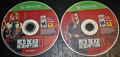 Red Dead Redemption 2 Xbox One or One X - DISCS ONLY - NO CASE