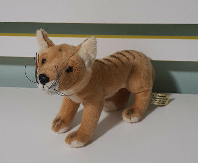 Tasmanian Tiger Thylacine Soft Plush Stuffed Toy Cooper 12 30cm