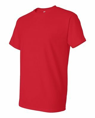 Gildan Mens DryBlend 50/50 Cotton/Polyester Plain T-Shirt Short Sleeve RED 4XL