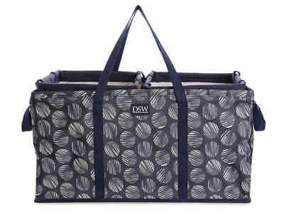DSW 3 Piece Collapsible Organizer Set for Shoes Car or Closet Navy 3-Piece Three