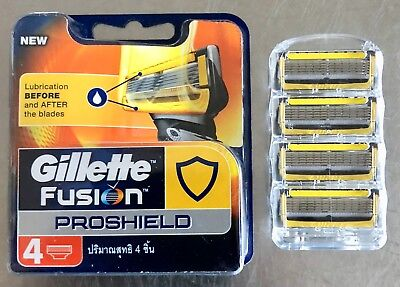 Gillette Fusion Proshield Razor Blades Brand New Single 4 pack Made In Germany