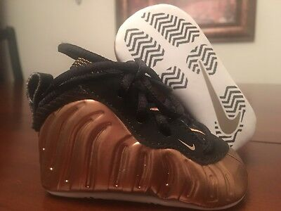 3f405bb8ce8 Baby Nike Lil Posite One Foamposite Basketball Crib Shoes - Copper - Size 2C