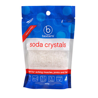 NEW Bexters Soda Crystals Ideal For Sports Injuries And Aching Muscles 200g