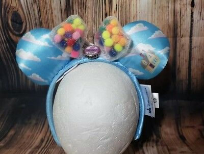 Disney Parks UP Minnie Mouse Ears Balloons Headband Grape Soda Up House