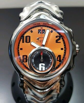 New Oakley Judge II Watch polished orange dial minute machine doubletap  jury gmt b8f41d7453f8