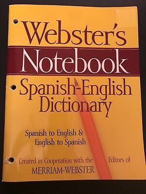 Webster's Notebook - Spanish-English Dictionary (Paperback, 2009)