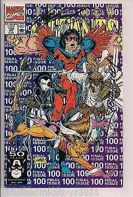 The New Mutants #100 Signed by Chris Claremont & Nicieza WCOA 1st X-Force W/COA