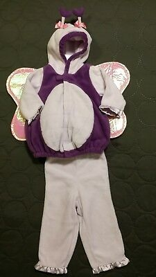 Old Navy Purple Sparkly Butterfly Halloween Costume 6-12 Month Baby Girl NEW