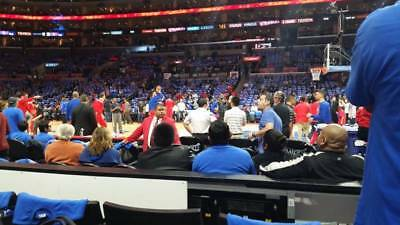 2 TICKETS CLEVELAND CAVALIERS CAVS @ LA CLIPPERS 3/30 *CLIPPERS BENCH Row 1*