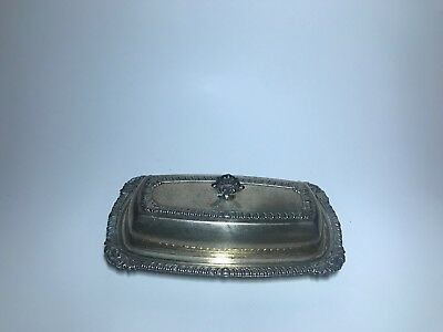 English Silver Mrg Corp Butter Dish  & Lid  MADE IN USA Vintage