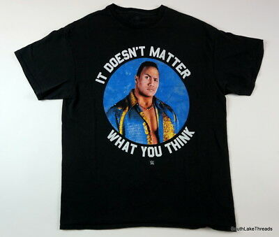 The Rock WWE Graphic T-Shirt It Doesnt Matter What You Think Sz Men's Large