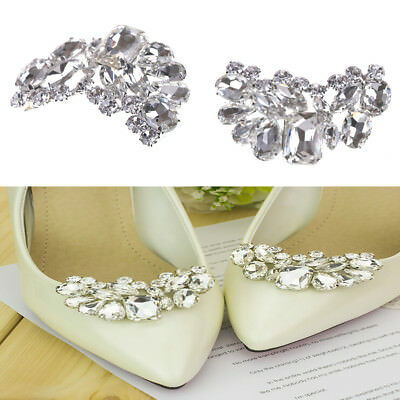 Shiny Bridal Wedding Shoes Clip Crystal Rhinestone Decor Accessories NewestPB