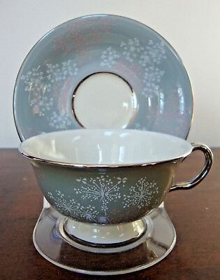 Castleton Lace Tea Cup and Saucer Bone China