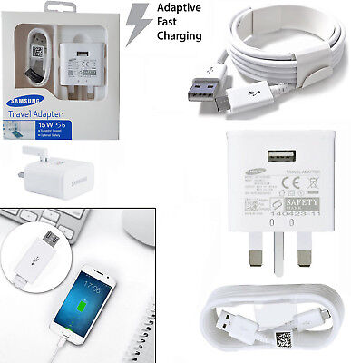 High Quality FAST CHARGER PLUG & CABLE FOR SAMSUNG GALAXY S7 S6 EDGE NOTE 4 5 UK
