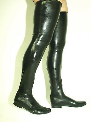 "Promotions Latex Rubber  Boots  Size 5-16 Heels-0""- Produce Poland"