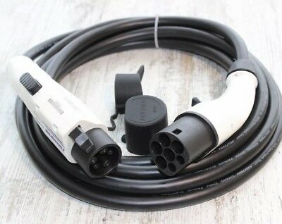 EV / Electric Car -Type 1 to Type 2 Charging Cable 5m 32Amp WITH BAG