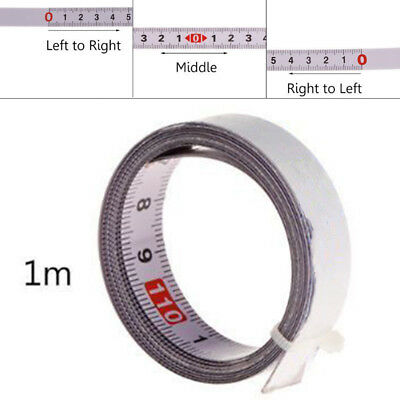 T-Track Metric Scale Track Self Adhesive Tape Measure Woodworking Router Tool