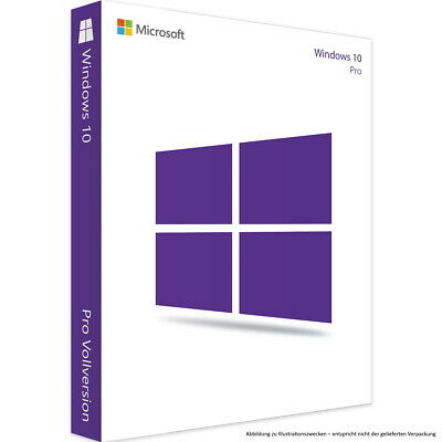 Microsoft Windows 10 Professional Pro 32 / 64bit Vollversion Key 1PC