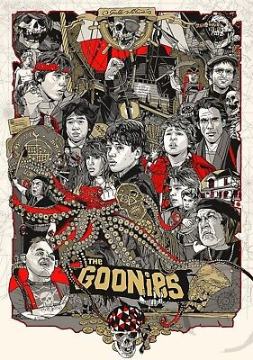 1985 The Goonies Movie Poster > Print > One Eyed Willie > Chunk > Sloth