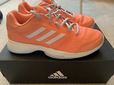 ADIDAS WOMENS BARRICADE Club Tennis Shoes Blue Breathable ... b247fc3ce