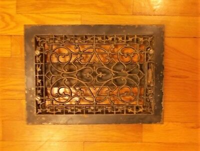 Antique Cast Iron Floor Grate Ornate