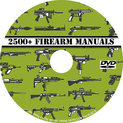 2500+ Firearm Manuals DVD Rifle Carbine Pistol Shotgun Revolver Gun pdf CD Disc