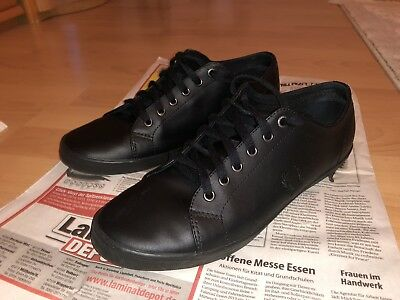 FRED PERRY SCHUHE Schwarz Leder Black Leather 44 10,5 9