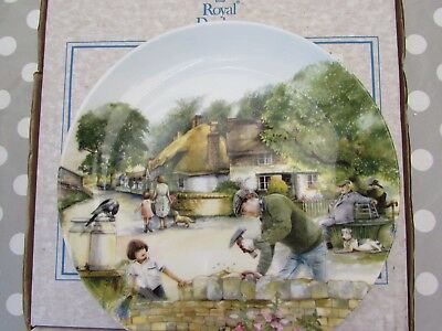 """Royal Doulton Plate."""" THE DRY-STONE WALLER"""". Old Country Crafts. By Susan Neale"""