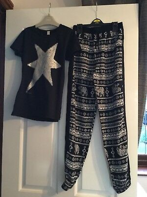 girls clothing 10 Years Star Top And Pattern Trousers