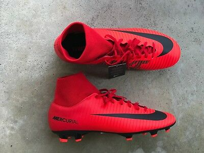 Nike Mercurial Victory VI DF FG Soccer Cleats Red Blk 903609 616 Mens  football 5ff7bb8999