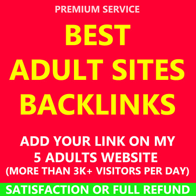 5 Adult Homepage Backlinks Best High Quality Seo PA Pr9 Google Website Links