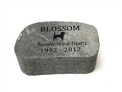 Personalized, Engraved Pet Memorial Stone, Cat, Dog, Horse, Garden Decor