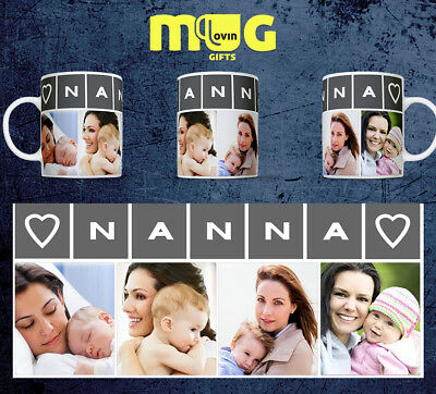 NANNA PHOTO MUG CUP Personalised GIFT BIRTHDAY PRESENT IMAGE CUSTOM TEXT LOVE